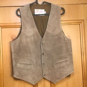 Vintage Excelled USA sz M Leather Suede Vest